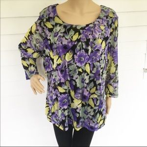 ❤️50%OffBundles floral Croft and barrow blouse 1x